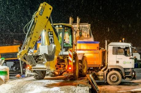Ziemas uzkopšanas darbi Jelgavā turpinās pilnā sparā